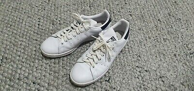 AU40 • Buy Adidas Originals Stan Smith Leather Sneakers White / Navy Mens Size US8.5