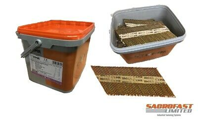 3.1/90mm 34 Degree Paper Collated Galvanised Screw Strip Nails By Kmr • 49.99£
