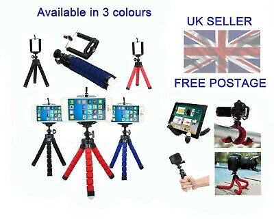 Universal Mobile Phone Mini Tripod Octopus Style Sponge Stand For Camera/Phone  • 5.99£