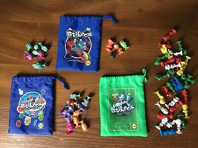 Stikeez Lidl Bundle Under The Sea Space Football Fruit Veg Three Bags • 1.50£