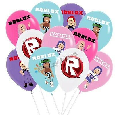 £4.99 • Buy New Girl Roblox Party Balloons Tablecloth Banner/Flag Plates Cups Party Supplies