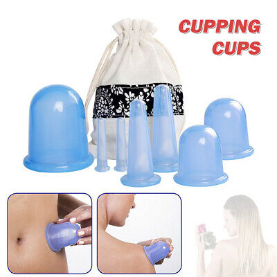 7Pcs Silicone Therapy Cupping Massage Vacuum Body Facial Anti Cellulite Cups UK • 10.69£