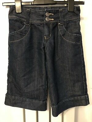 Blue Zoo Girls 3/4 Jean Shorts Excellent Condition Age 8 • 0.99£