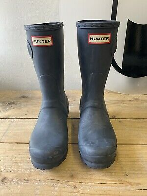 Hunter Classic Short Boots - Navy - UK 3 - New With Defects - I001 (41) • 8£