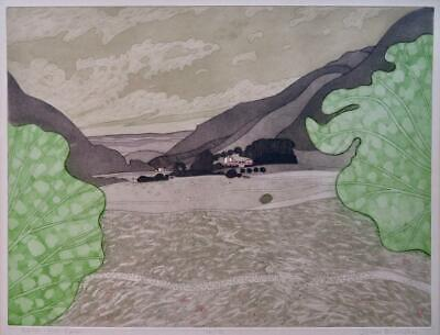 JOHN BRUNSDON - Limited Edition Pencil Signed Etching WELSH HILL FARM - WALES • 51£