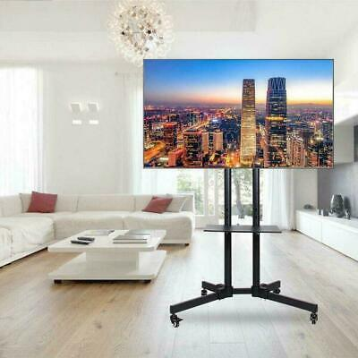 £45.45 • Buy Mobile TV Monitor Stand Mount Bracket Trolley Wheels 32 - 65  Adjustable LED LCD