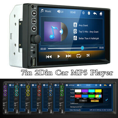 $60.20 • Buy 7in Double 2DIN Car FM Stereo Radio MP5 Player Touch Screen BT Audio USB/TF/AUX