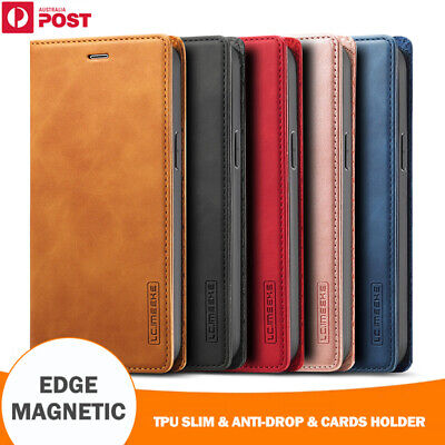 AU15.99 • Buy For IPhone 12 11 Pro Max Mini XR XS 8 SE Plus Case Magnetic Leather Wallet Cover