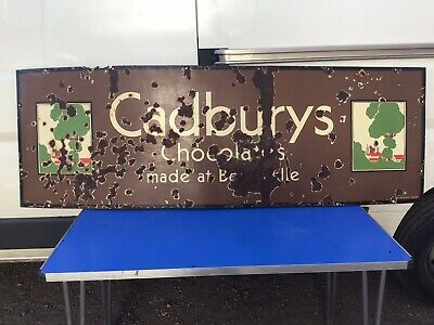 £295 • Buy Large Vintage Cadburys Chocolate Bournville Enamel Sign