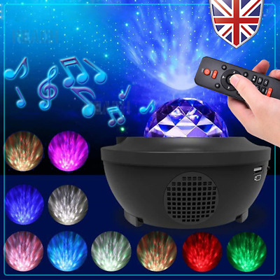 Galaxy Star Projector Music Night Light Remote Control With Bluetooth Speaker  • 20.99£