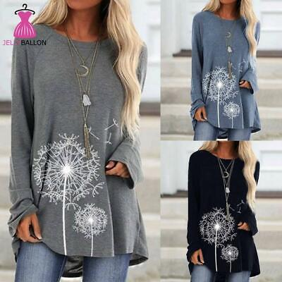 £12.19 • Buy Womens Floral Long Sleeve Baggy Shirt Ladies Casual Tunic Tops Jumper Pullover