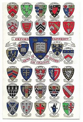 Card ... Arms Of Oxford University And The Colleges • 1.11£