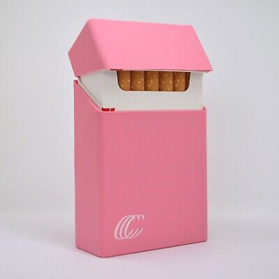 Silicone Cigarette Case Pack Cover King Size Box Holder Accessory - Pink • 4.70£