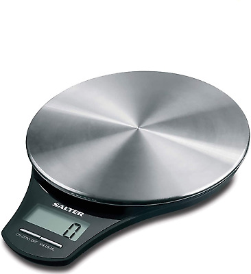 Salter Stainless Steel Digital Kitchen Weighing Scales - Electronic Cooking For • 24.09£