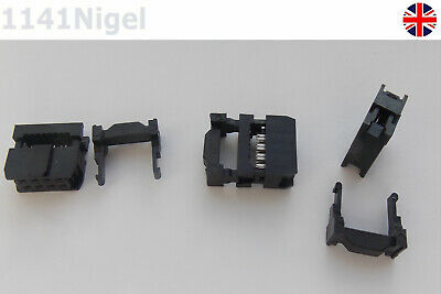 8 Pin 2.54mm IDC Connector Straight IDC Box Header Connector Pitch    • 2.99£