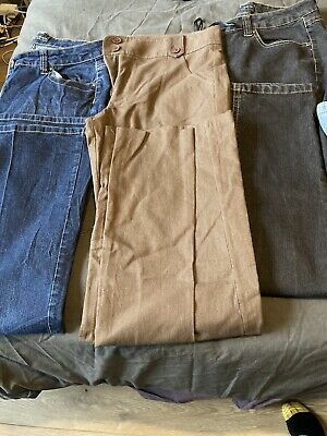 Bundle Of 6 Pairs Of Tall Jeans FromTop Shop  & Dorothy Perkins -size 14 • 9.99£