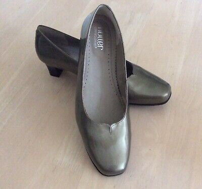 *HOTTER*ENCHANT LADIES  COMFY  LEATHER SHOES SIZE Uk 8 PEWTER.LEATHER.BRAND NEW. • 7.99£