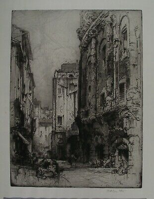 HEDLEY FITTON R.E. 1912 Original Pencil SIGNED ETCHING ROME ITALY Richly Inked • 49.95£
