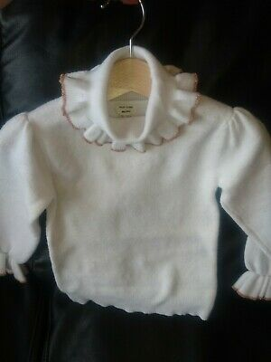 £14.99 • Buy Baby Girl Knitted Jumper Polo Neck Collar Neck River Island 18-24 Months