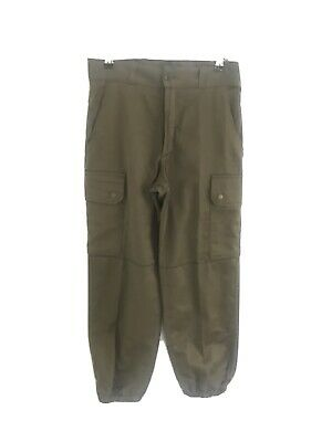 Womens Khaki Military Army Style Cropped Trousers Size 28W • 8£