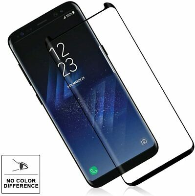 $ CDN5.83 • Buy For Samsung Galaxy S8 Plus Full Coverage Screen Protector Tempered Glass - Black