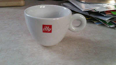 (4) Illy Logo White Red Cappuccino Coffee Cups / Mugs • 32.19£