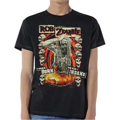 Rob Zombie Born To Go Insane Official Tee T-Shirt Mens Unisex • 13.99£