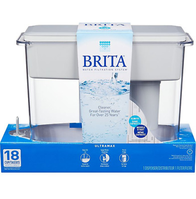 White Brita Extra Large 18 Cup Filtered Water Pitcher Dispenser Portable NEW • 26.34£