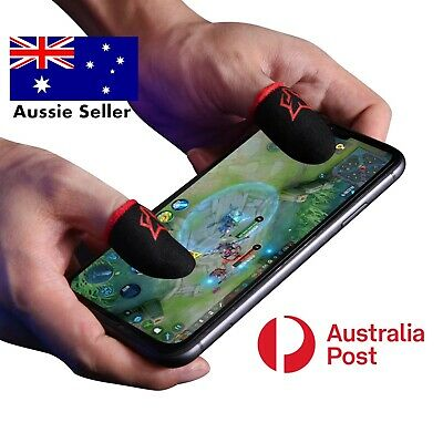 AU14.90 • Buy 4 Sweat-Proof Finger Sleeve Mobile Tab PUBG CODM Claw Game TouchScreen Gaming