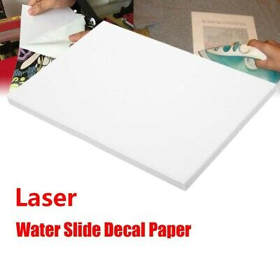 A4 Laser Clear White Water Slide Decal Sticker Transfer Paper Film 20 Sheets/lot • 16.64£