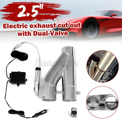 AU119.69 • Buy 2.5'' 63MM Dual Valve Exhaust E-Cut Out Y Pipe Electric Remote Control Kits Car