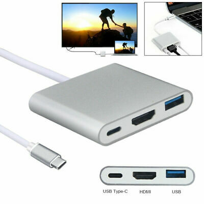 AU21.88 • Buy USB C To HDMI Adapter Hub Splitter Transfer Multiport Adapter For MacBook Pro