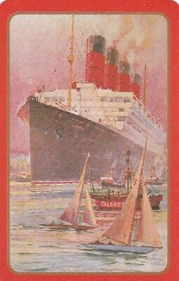 AU2 • Buy Vintage Swap Playing Card, Ship, Old Cruise Ship And Yachts