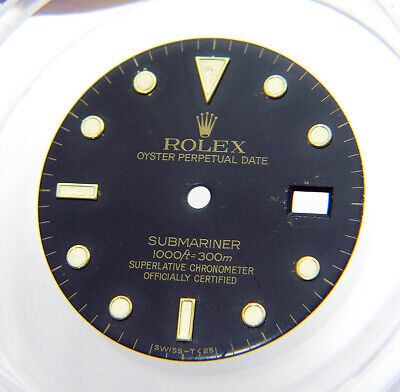 $ CDN263.16 • Buy Genuine Rolex Submariner 16613 16618 16803 16808 Black Gold Tritium Watch Dial