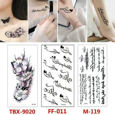 Temporary Tattoos Sleeves Paper For Women Body Art Stickers Tattoo Best H1P4 • 1.89£