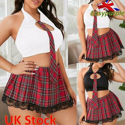 Womens Lace Nightwear Sexy Lingerie School Girl Student Fancy Underwear Costumes • 5.19£
