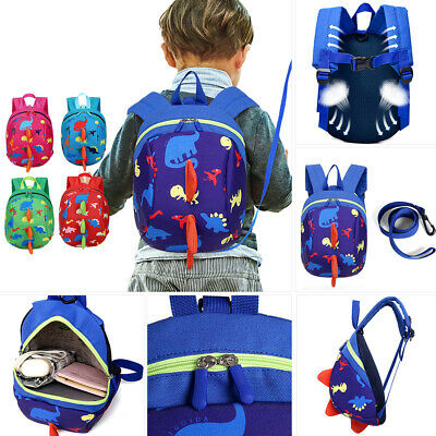 Cartoon Baby Toddler Kids Dinosaur Safety Harness Strap Bag Backpack With Reins • 6.39£