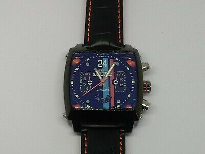 Mens Watch Racing Le Mans Steve McQueen Monaco Porsche Gulf Look New With Tag • 62£