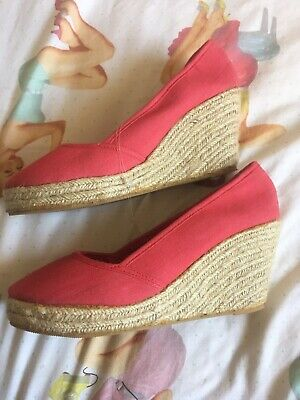 New Wedge Pumps Pin Up Style 8 Red • 3£