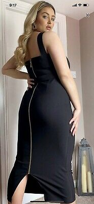 AU25 • Buy ASOS Curve Square Neck Midi Wiggle Dress UK 18