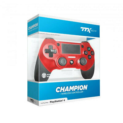 AU57.95 • Buy TTX Champion Wireless Controller For PS4 Red NEW