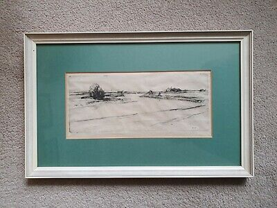 David Young Cameron - On The Esk - Drypoint Etching - Scottish River - 1912? • 75£