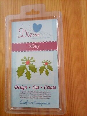 Crafters Companion, Die'sire Holly, Design, Cut, Create • 1.70£