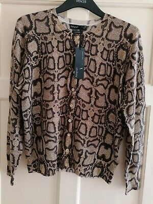 Marks And Spencer Autograph Pure Cashmere Cardigan, Size 14 • 40£