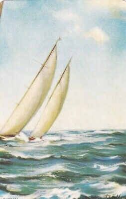 AU3 • Buy Vintage Swap Card, Sailing, Yachts, Blank Back Swap Card