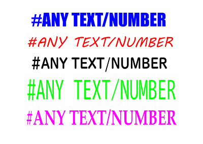 £3.85 • Buy #ANY NAME/NUMBER A4 SHEET Laptop Wall Window Door Car Stickers