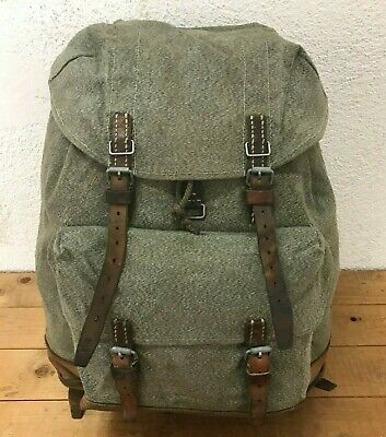 1969 Good Condition Swiss Army Military Backpack Rucksack Canvas Leather Vintage • 114.65£