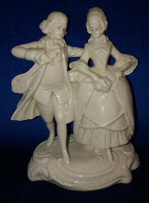 $ CDN18.71 • Buy Antique White Porcelain Figurine French Couple Thuringia Germany
