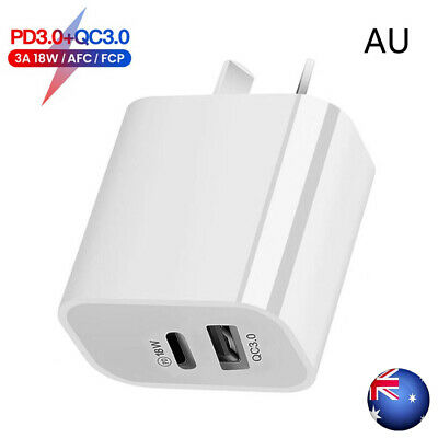 AU14.95 • Buy AU Plug PD 18W USB-C Type C Fast Wall Charger Adapter For IPhone 12 11 Android