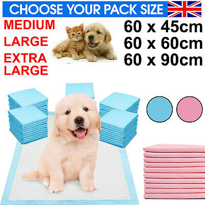 £9.95 • Buy Heavy Duty Large Puppy Training Pet Pads Floor Wee Pee Toilet Pad Dog Cat Mats